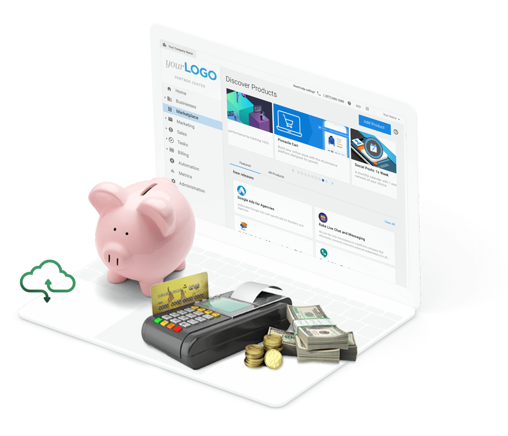 Marketing white-label software for financial services