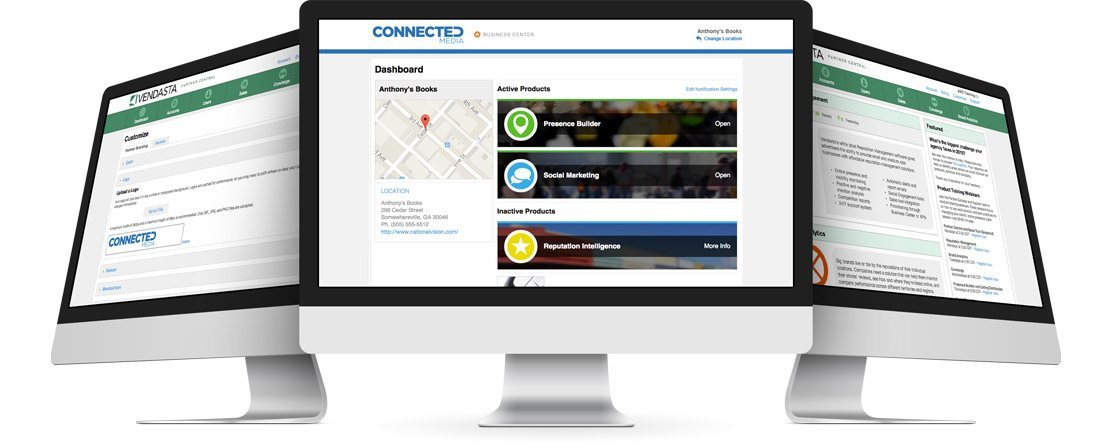 White labelled Business Center dashboard
