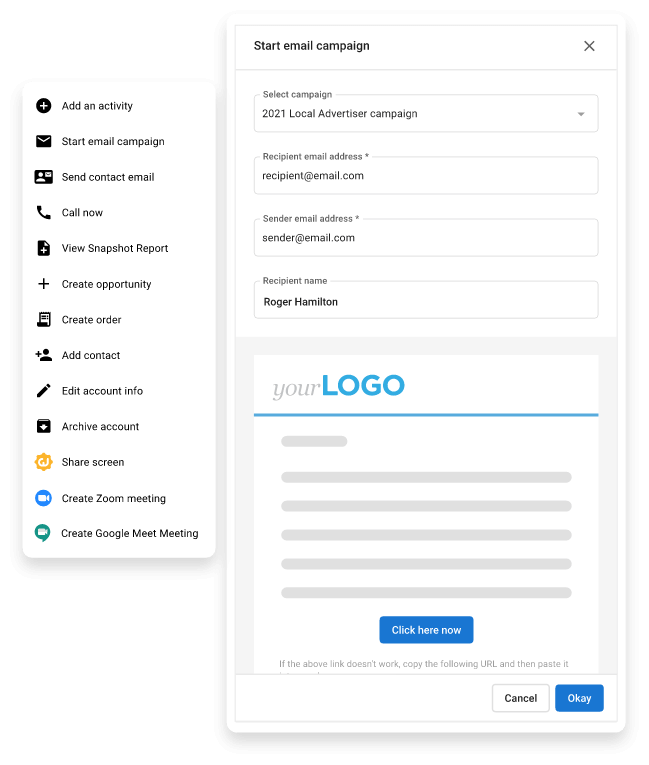 Create campaigns in contact details